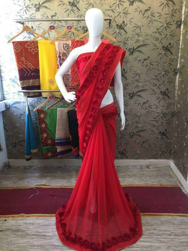 Shop Ribbon Work Sarees Online