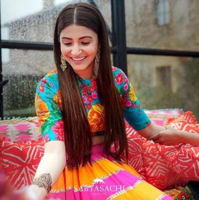 Anshuka Sharma Mehndi Dresses
