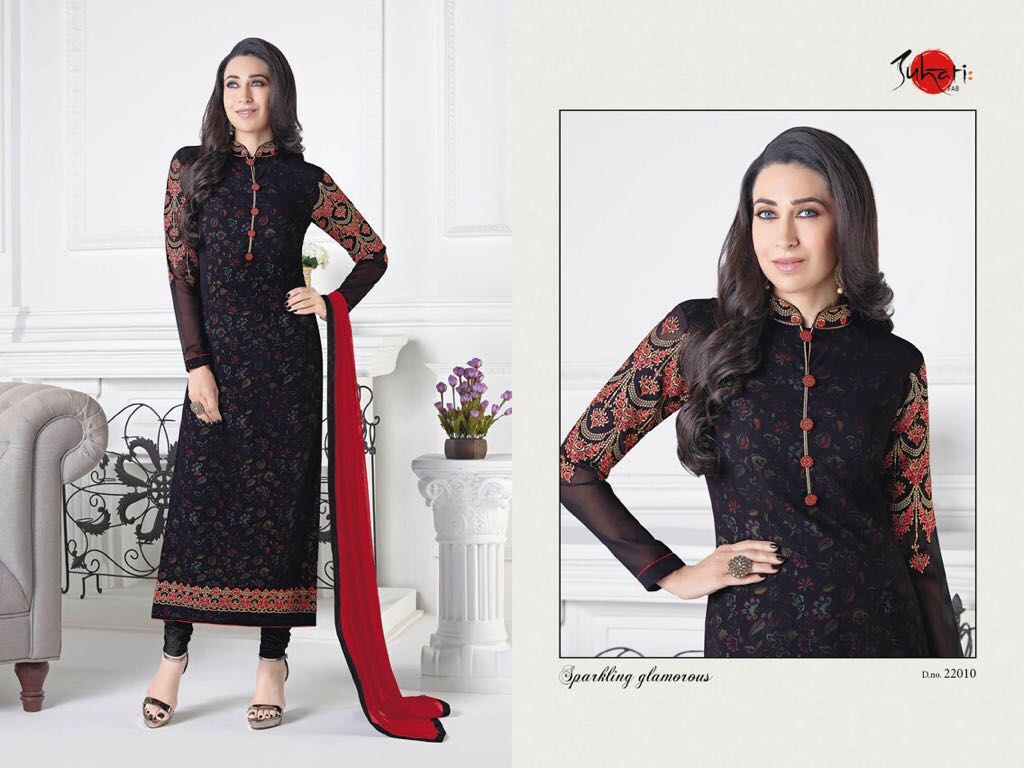 Karishma Kapoor in Suhati Fab Latest Churidar Suit