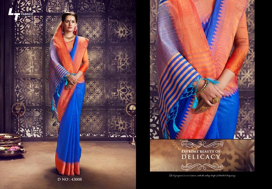 LT Fabric Pongal Raw Silk Sarees Online