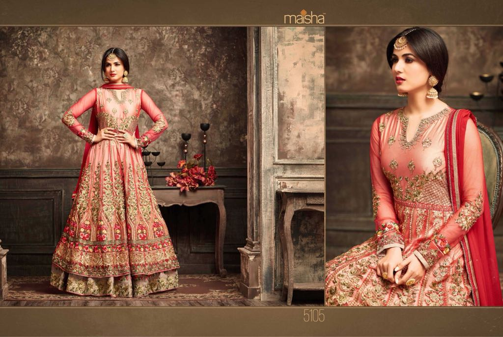 Maisha Jawariya Floor Length Anarkali Suits