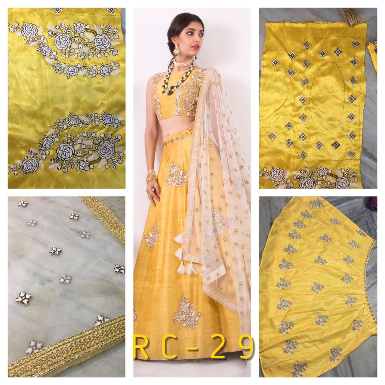 RC 29 Bangalori Silk Lehenga Blouse Side