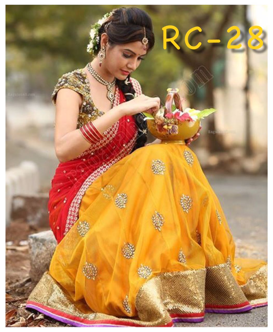 Shop Yellow Lehenga Blouse Set RC 28 Online