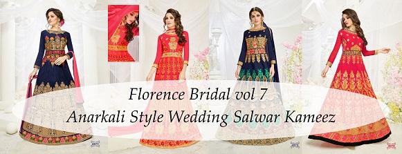 Florence Bridal vol 7 Anarkali Style Wedding Salwar Kameez