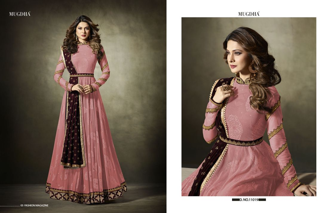 Mugdha Premium Designer Anarkali Suits 11019 Color Edition Pink A