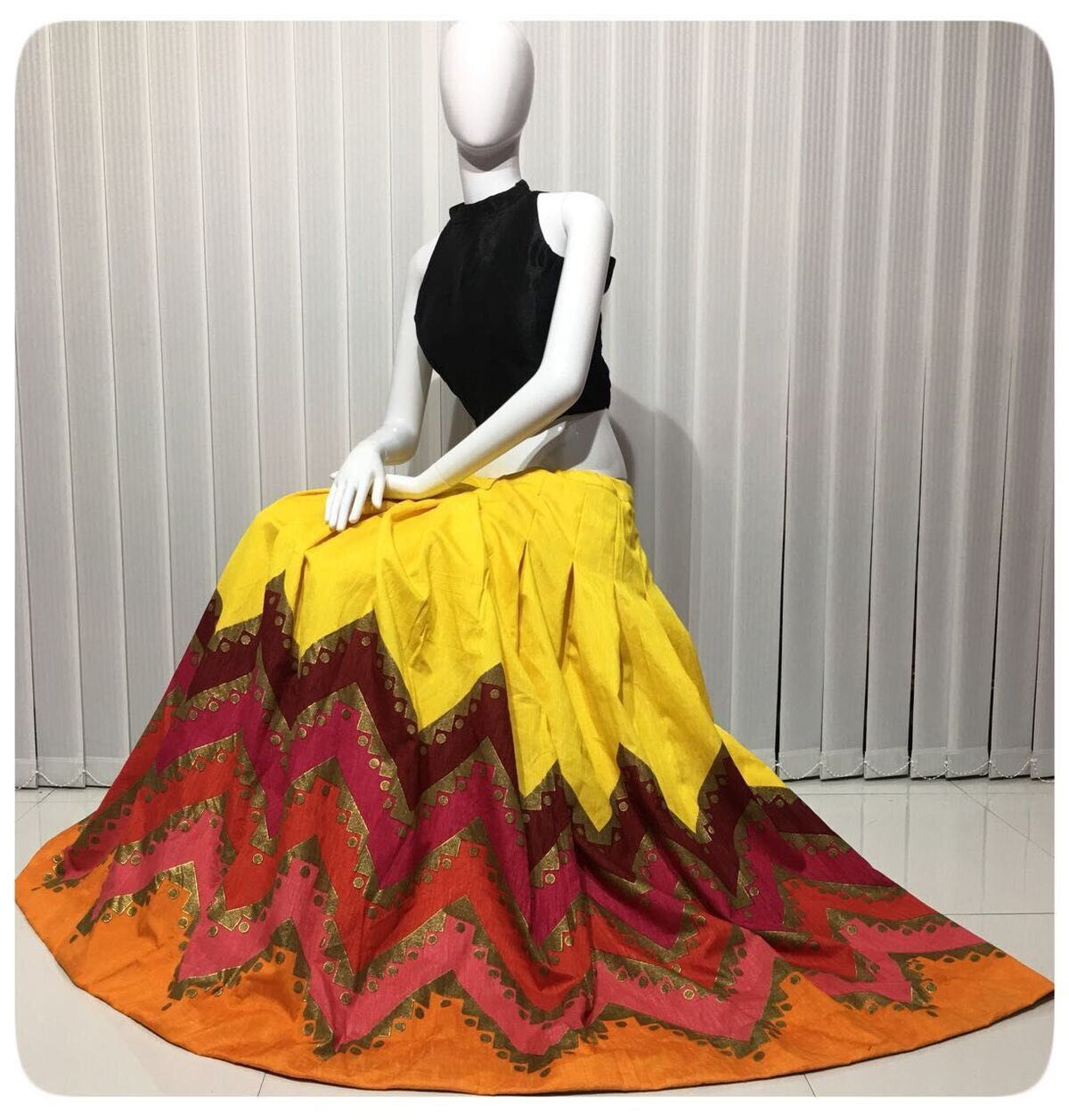 Readymade Lehenga Blouse Crop Top Styled D