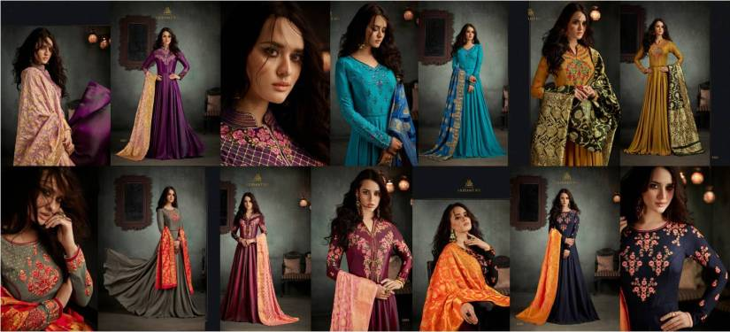 Arihant NX Rizwana Readymade Floor Length Salwar Suits with Dupatta