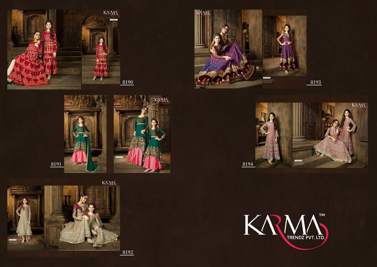 Karma mother and daughter dresses Ethnicwear 8100 series