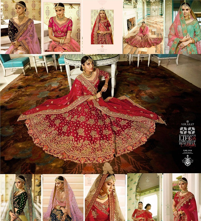 Virasat Royal Bridal Lehenga Blouse Collection