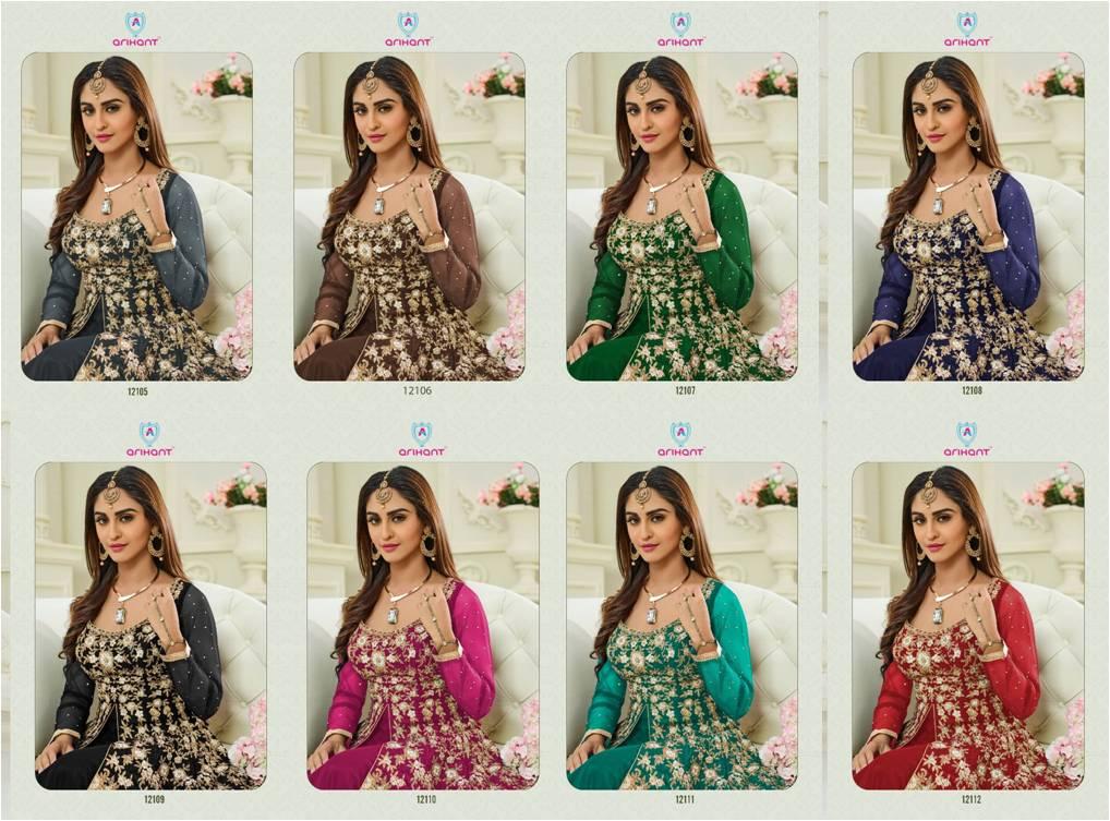 Arihant Designer Indo Western Anarkali Shalwar Suits Shashi v12