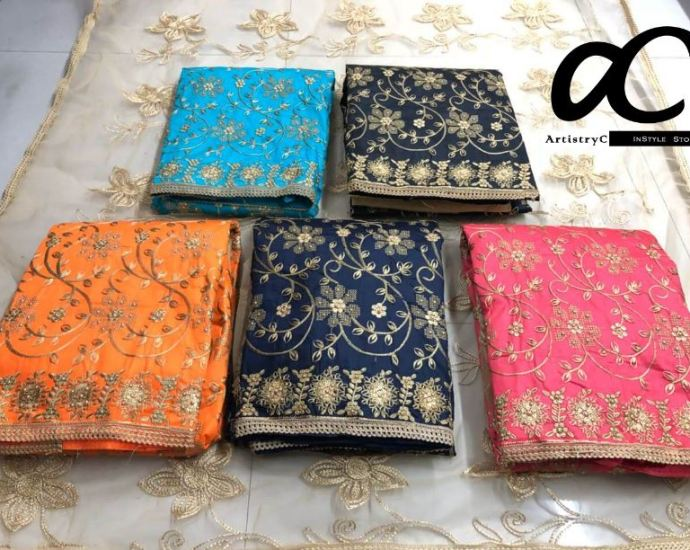 Cotton Suits with Embroidery