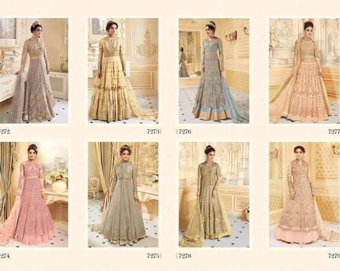 Glossy Sapphira 2 Heavy Embroidery Bridal Long Floor Length Suits