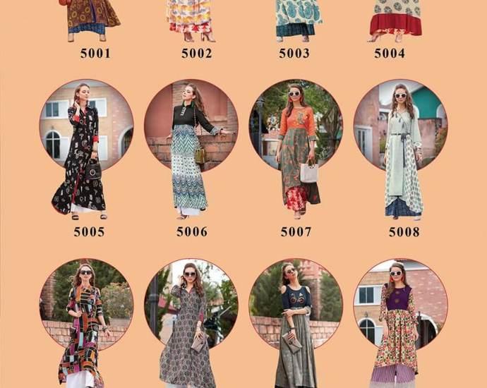 Kajal Style Fashion Galleria Vol-5 Long Kurtis
