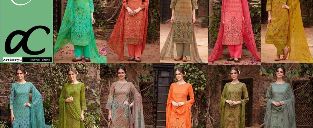 Pure Cotton satin Dress Material Heer-38