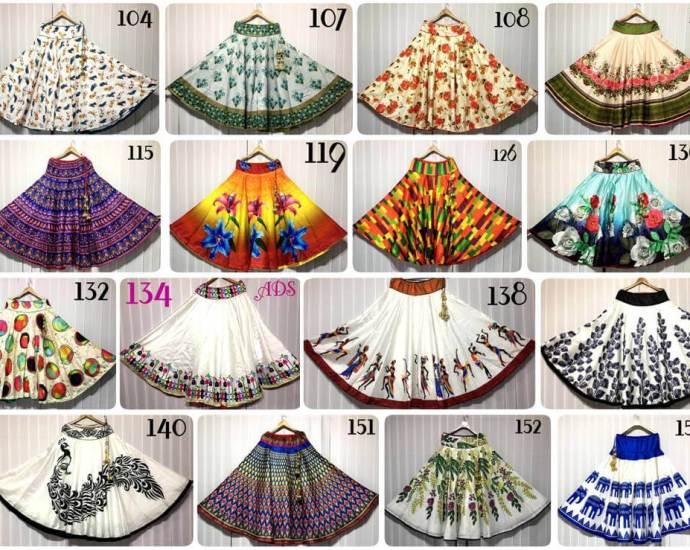 Shop ALF Designer Digital Print Nano Lehenga Skirts Online