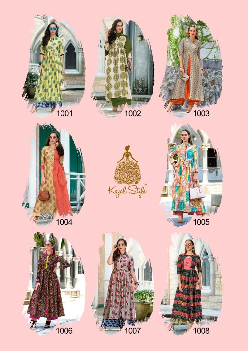 Shop Kajal Style F ETHNIC Vol-1 Designer Long Kurtis Online