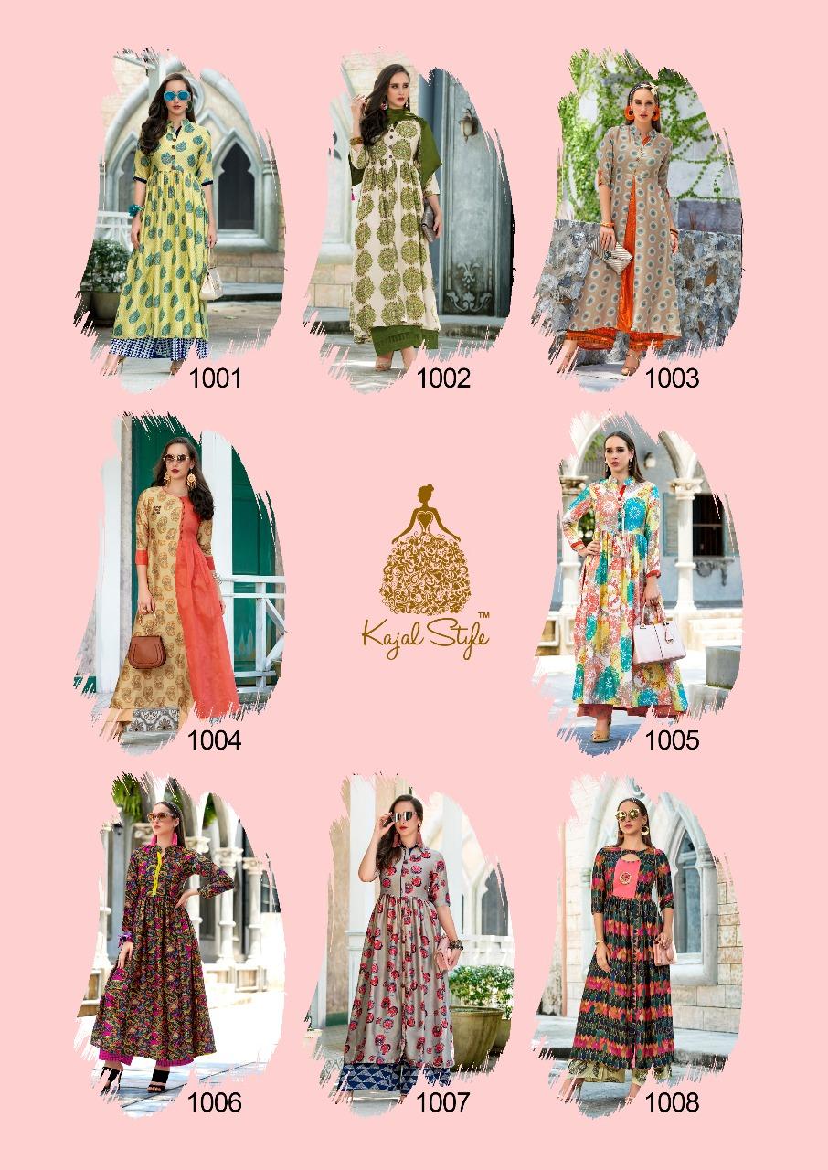 Kajal Style F ETHNIC vol-1 Designer Long Kurtis
