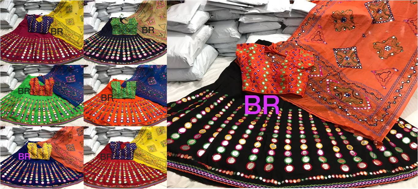 Navratri Special Heavy cotton gamthi work lehenga blouse