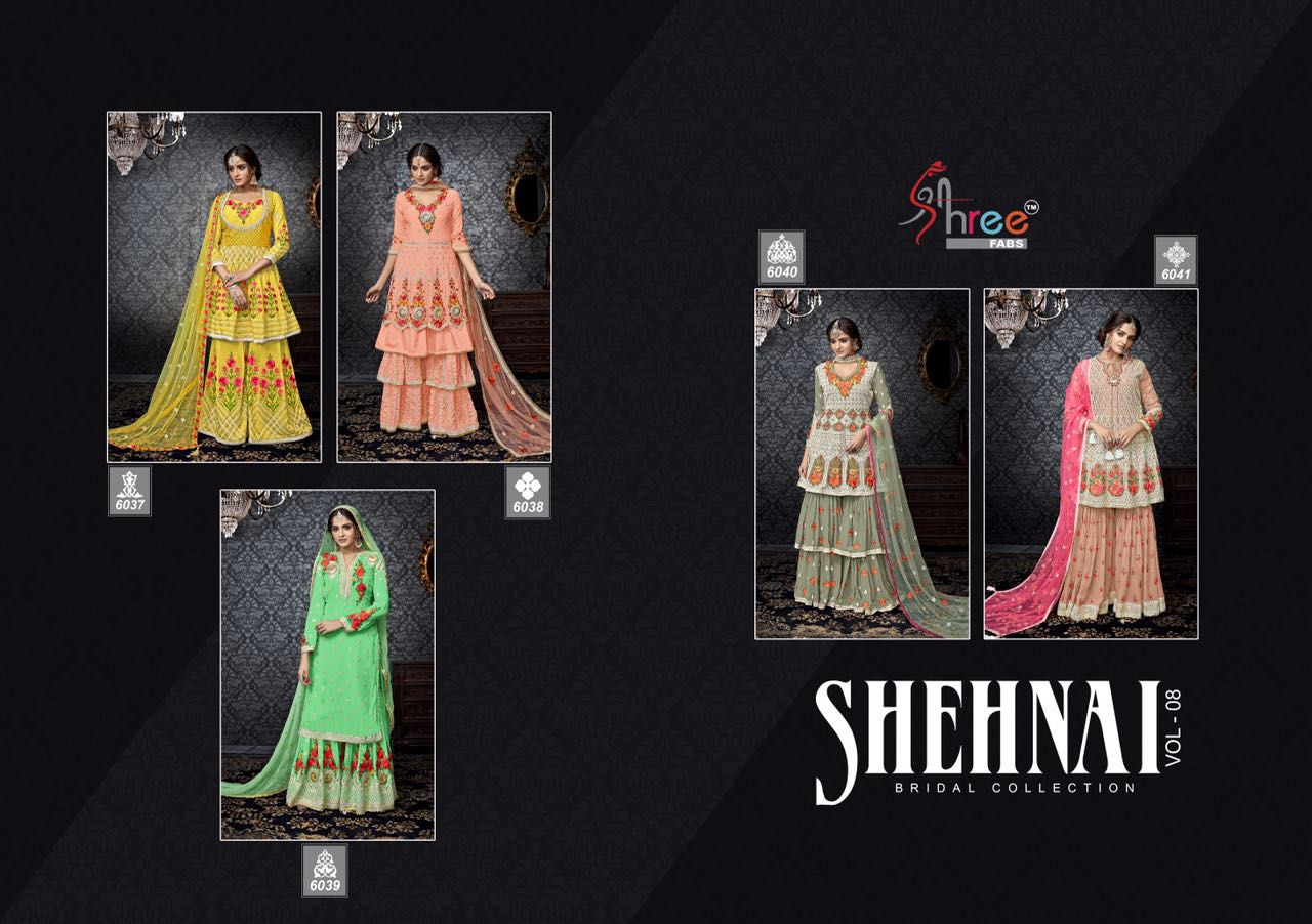 Bridal Sharara Suits Shehnai vol 8
