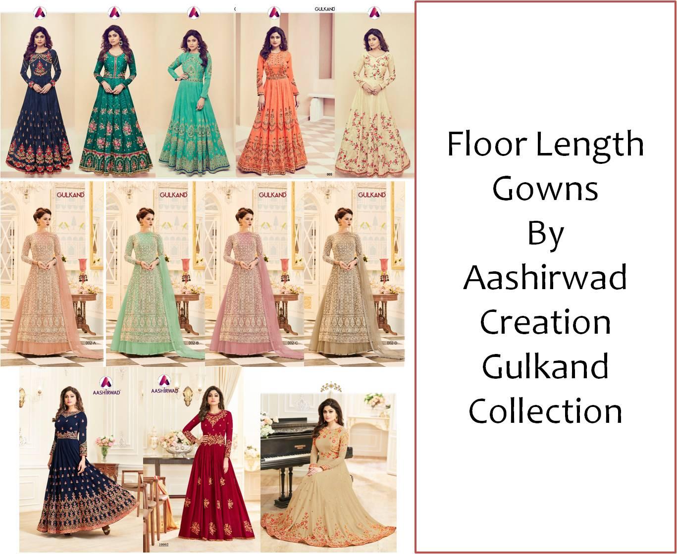 Shop Floor Length Gowns Aashirwad Gulkand Collection Online