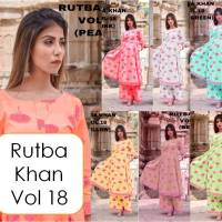 Shop Designer Long Kurti with Palazzo Pants Rutba Khan vol 18 Online