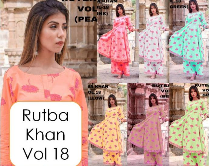 Long kurti with palazzo pants Rutba Khan vol 18
