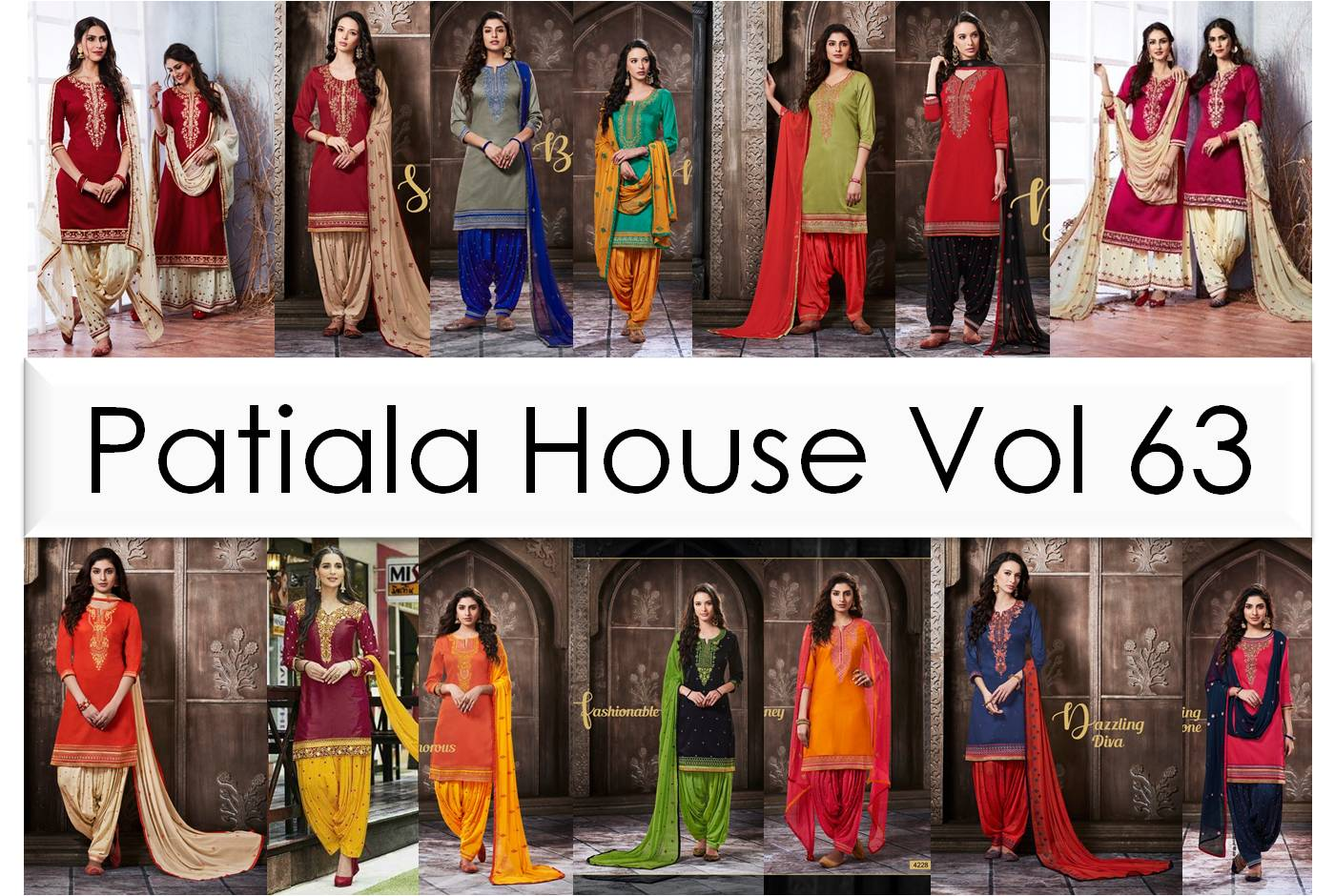 Shop Pure Cotton Suits Patiala House Vol 63 Online