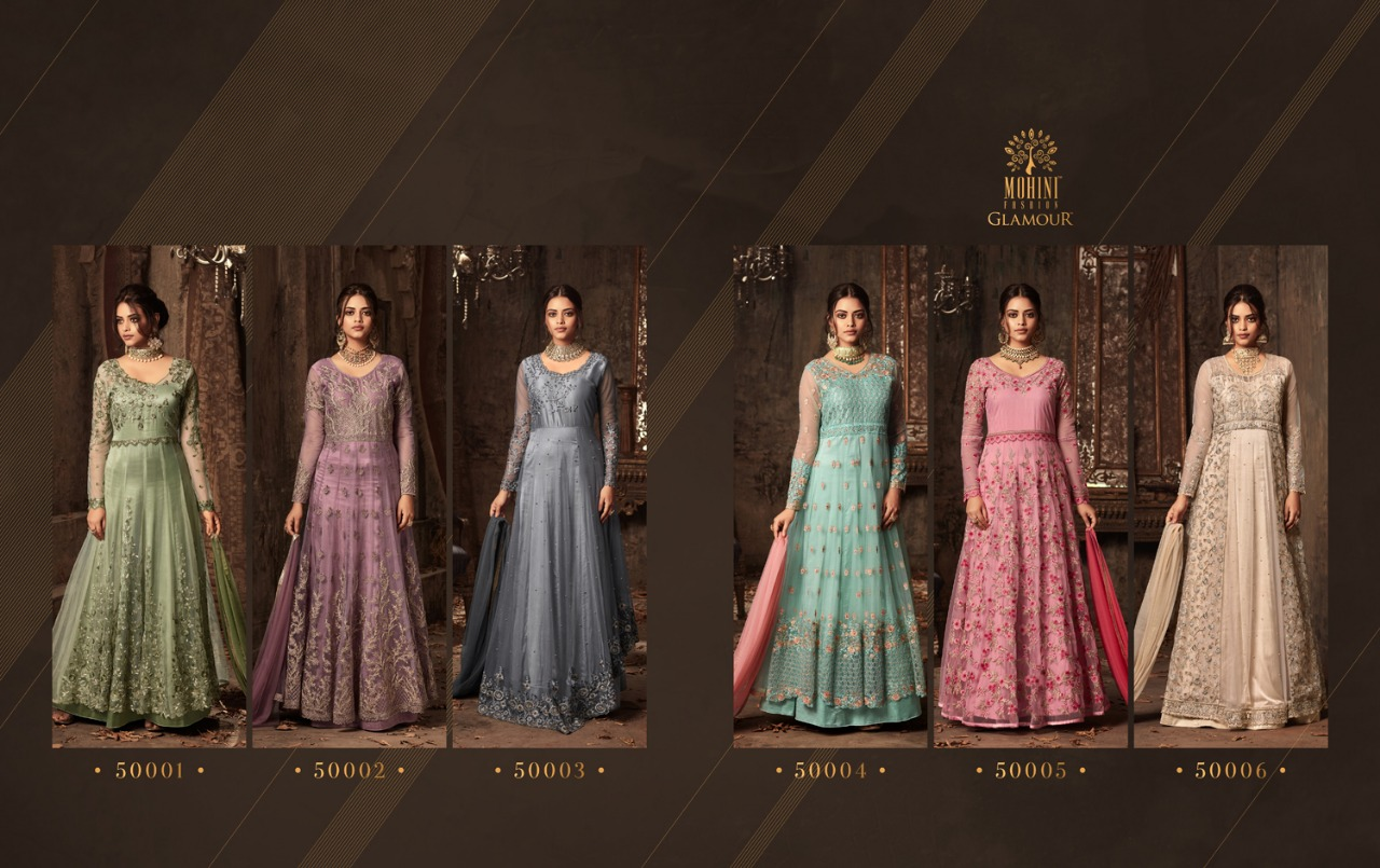 Shop Designer Floor Length Anarkali Gown Glamour Vol 50 Online