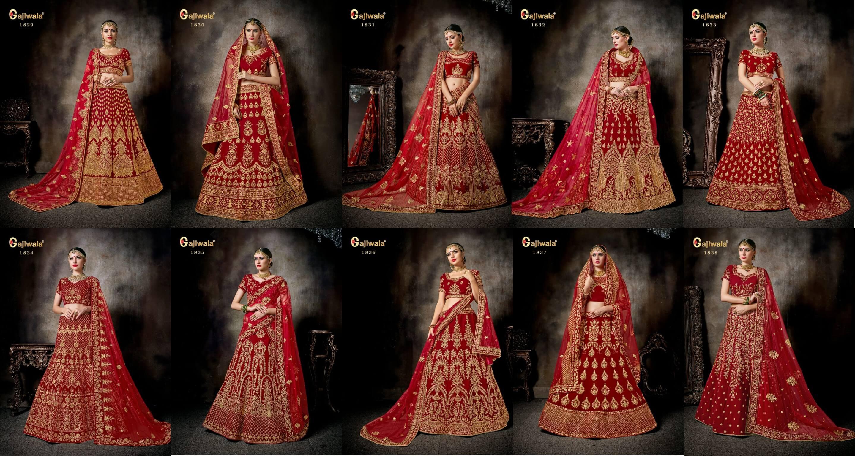 Designer Bridal Lehenga Gajiwala Nakshatra