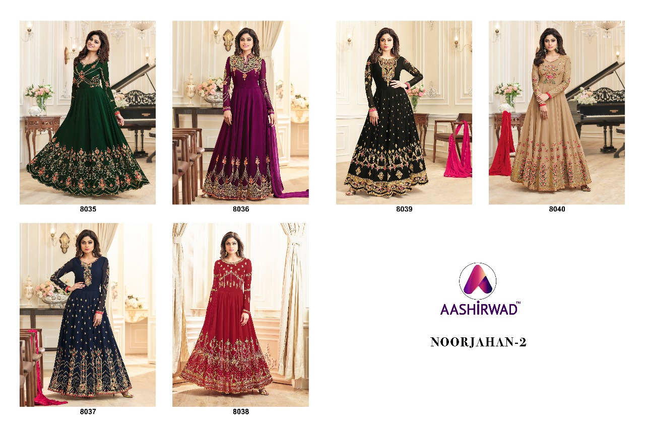 Shop Floor Length Anarkali Gowns Aashirwad Noorjahan Vol 2 Online