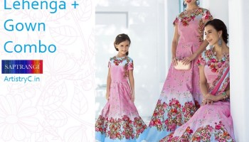 5caca79b4d Shop Mother and Daughter Dresses Online by Karma | ArtistryC from India