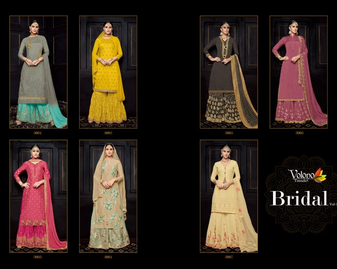 Traditional Wedding Dresses Garara Suits Volono Bridal Vol 2