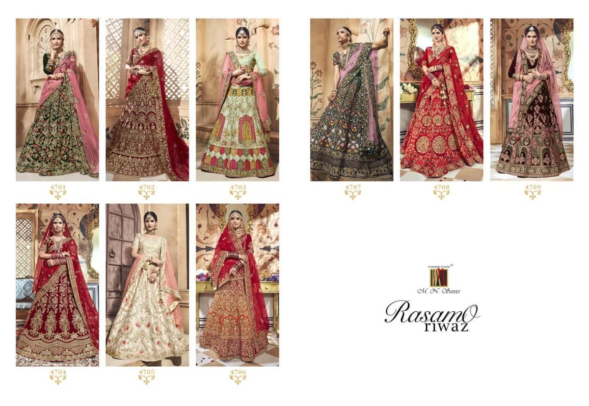 Shop Bridal Lehenga Choli RASAMO RIWAZ MN Sarees Online