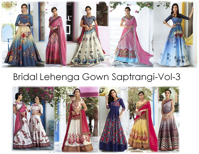 Bridal Lehenga Gown Saptrangi-Vol-3