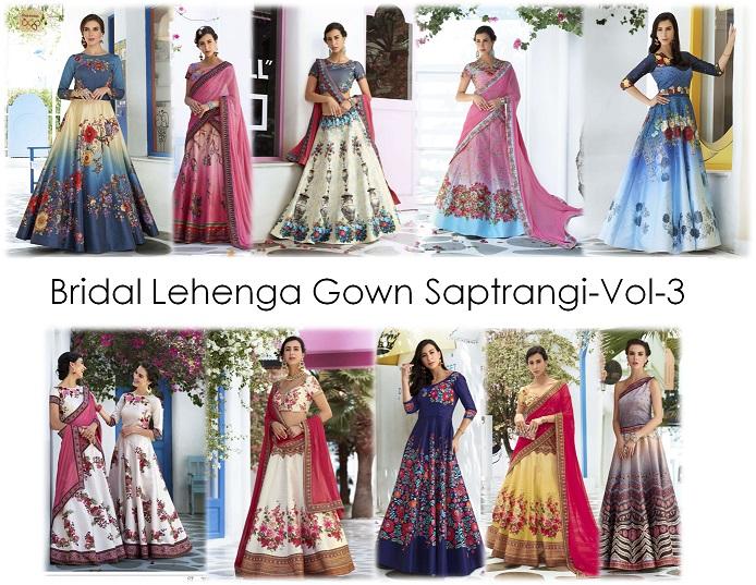 Bridal Lehenga Gown Saptrangi-Vol-3