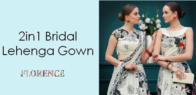 Bridal Lehenga Gown Saptrangi-Vol-6 Florence