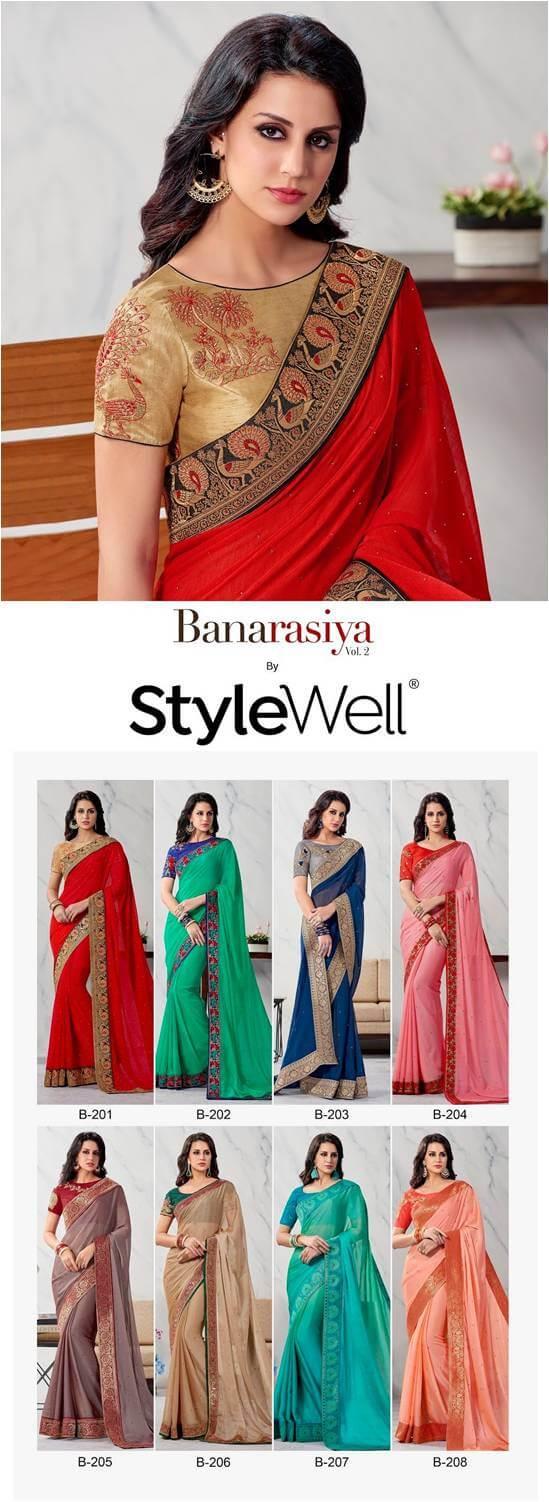 Party Wear Silk Sarees Stylewell-Banarasiya-Vol-2