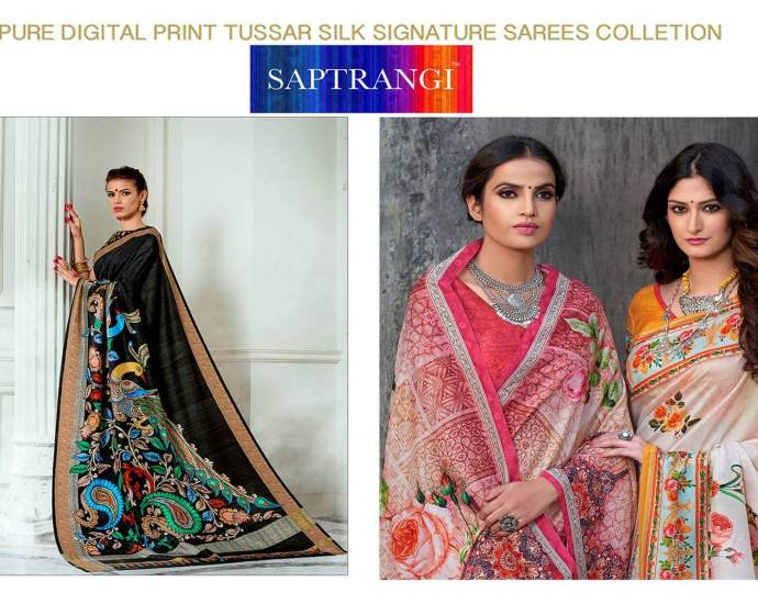 Pure Tussar Silk Sarees Saptrangi Signature Collection