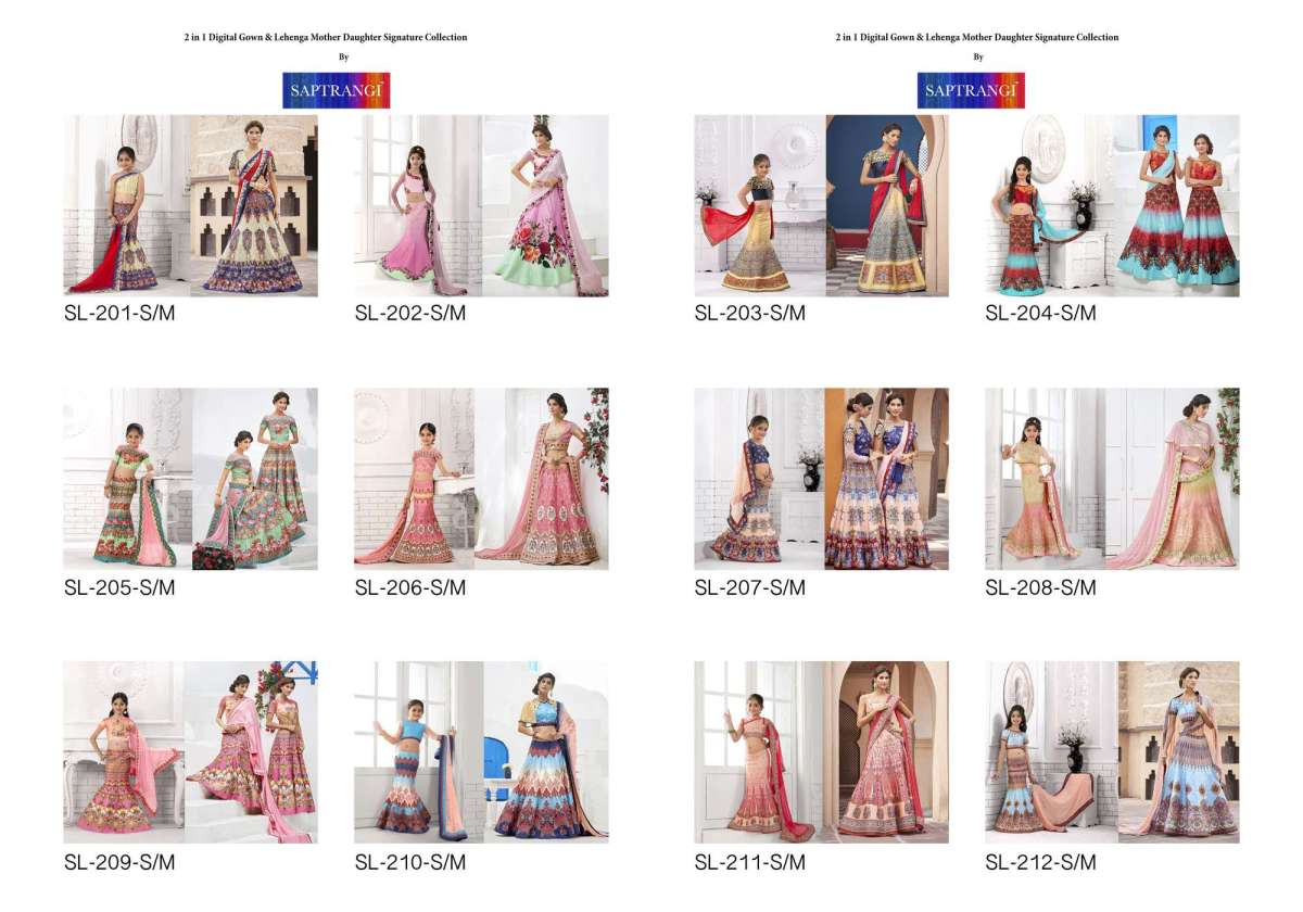 Shop Girls Lehenga Choli Saptrangi SL-200-Series Online