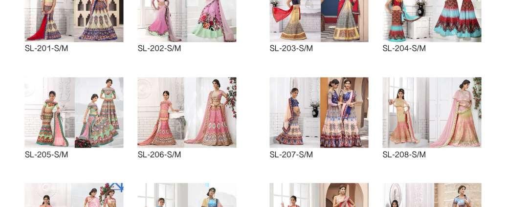 Girls Lehenga Choli Saptrangi SL-200-Series