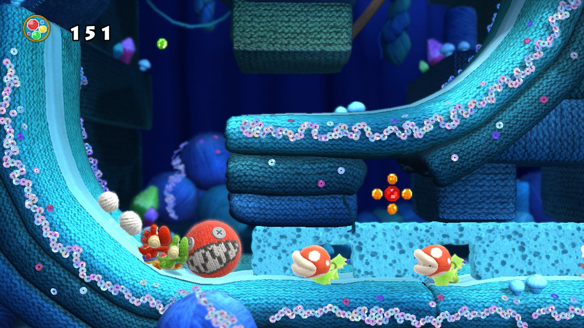 Sequins Fit The Theme, As Well As Add A Shiny, Bright Look To Even The Dark Cave Levels