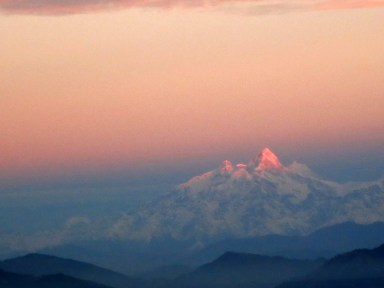 Mount Everest from my window seat on plane