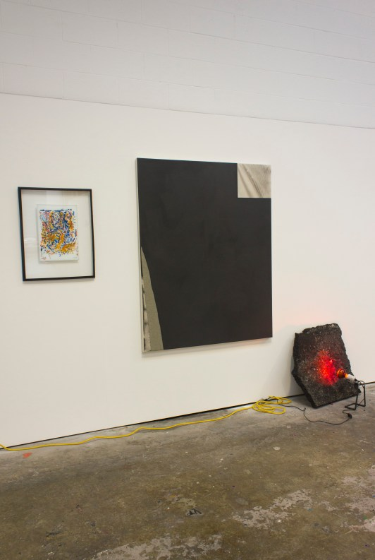 Installation shot featuring: David Ed Cooper, Hugo Koha Lindsay and Tanya Martusheff