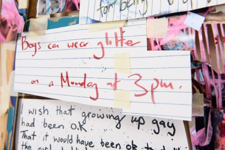 Community wishes gathered at Out in the Park this year have made their way into the assemblage artwork to appear on Courtenay Place. PHOTO: Mark Tantrum