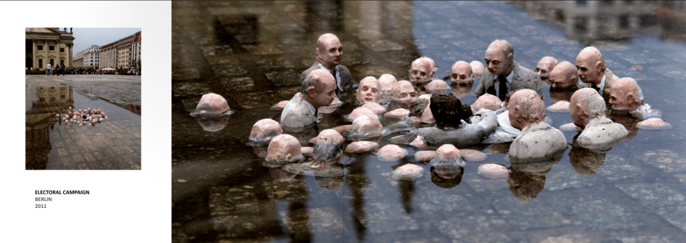 Isaac Cordal, climate change, Berlin, waiting