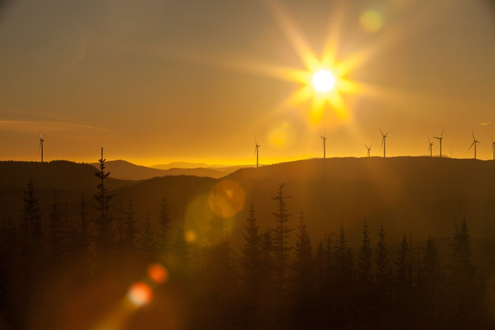 Joan Sullivan, renewable, energy, photographer, RE, renewable energy, wind, sunset, orange