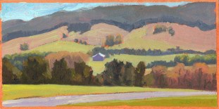 """Toad Run/Shag Hill - early spring, 5""""x10"""""""