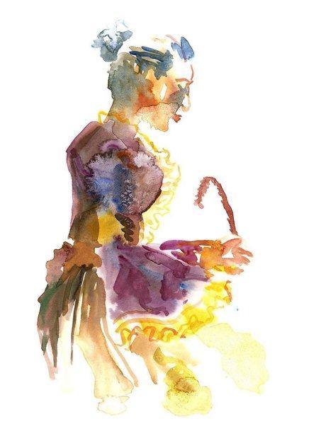 renaissance figure drawing watercolour