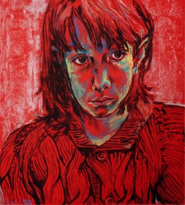 Self Portrait on Red