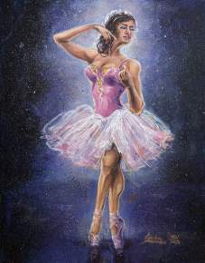 Repainted Ballerina in Spotlight